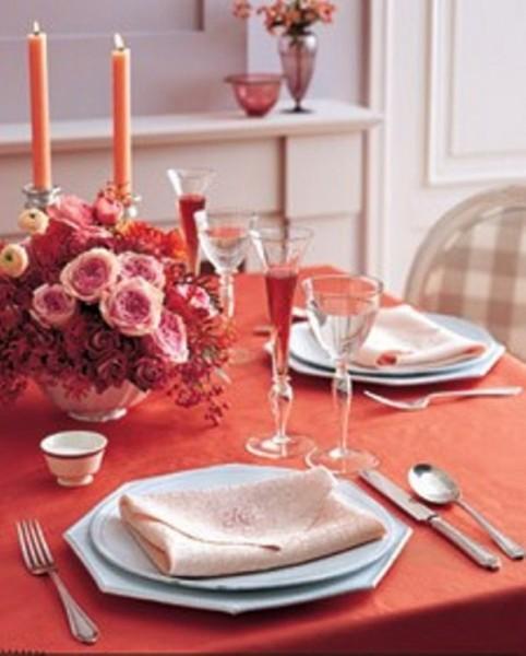 Как украсить стол для романтического ужина
