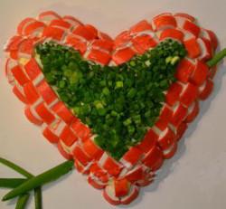 Салат ко Дню Влюбленных