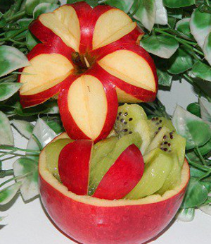 Фруктовые корзинки из яблок