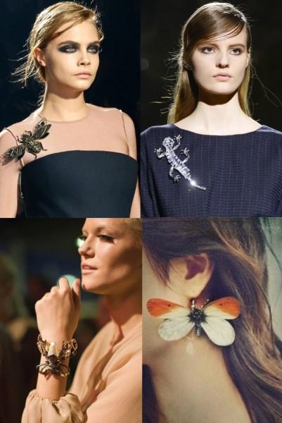 Аксессуары-насекомые. Мода 2014 года