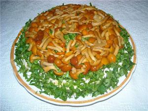 как приготовить салат полянка