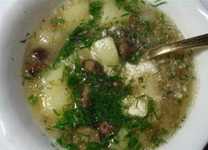 грибной суп пошаговый рецепт