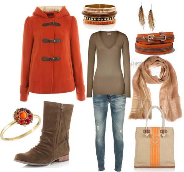 Стильный комплект одежды на осень