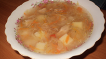 Приготовление щей с квашеной капустой